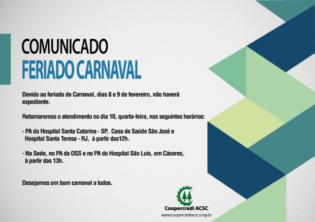 ComunicadoFeriadoCarnaval